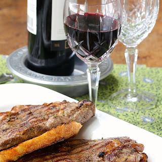 Garlicky Ribeye Steak with Garlic Bruschetta