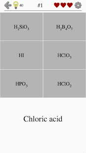 Inorganic Acids, Ions and Salts - Chemistry Quiz- screenshot thumbnail