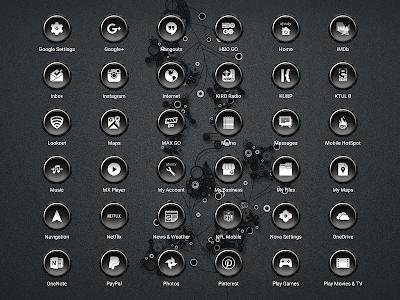 Coastal 10 Gray - Icon Pack v2.1