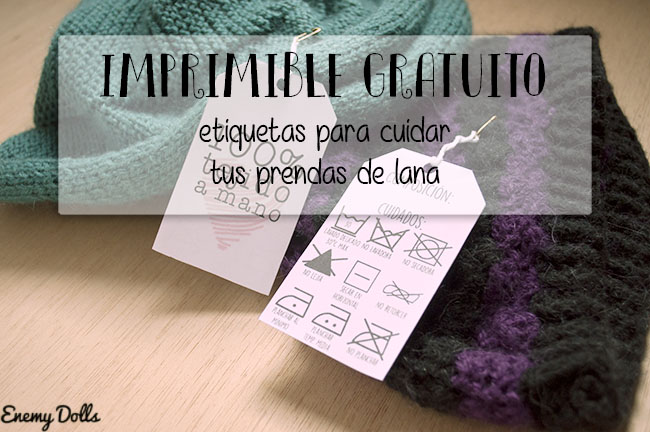 Etiquetas con consejos de lavado - Imprimible gratuito