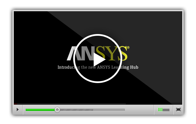 This video is a virtual walk through of the ANSYS Learning Hub, which provides 24/7 access to learning in bite-size pieces with annual subscriptions.
