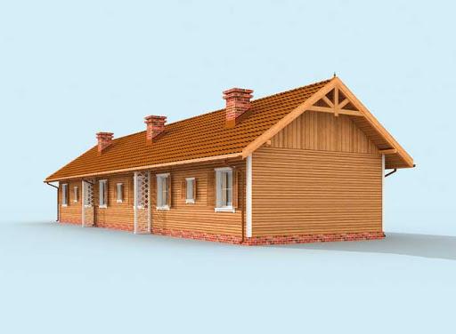 projekt Toronto 2 dom letniskowy (zabudowa szeregowa)