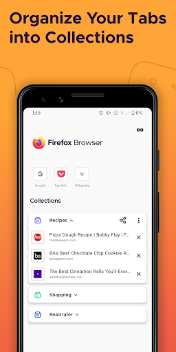 Firefox Browser: fast, private & safe web browser screenshot 3