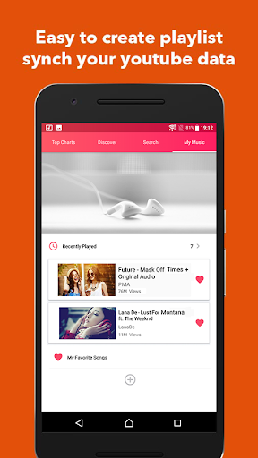 PureTunes - Free  Floating Youtube Music Videos 1.0.4 screenshots 3