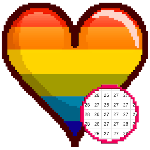 Valentine Color by Number Sandbox - Love Pixelart