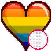 Valentine Color by Number Sandbox - Love Pixelart icon