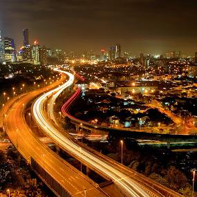 Night view of Kuala Lumpur by Terrence Yap - City,  Street & Park  Skylines