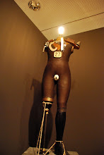 "Photo: Berlinische galerie George Grosz / John Heartfield ""The Conformist Turned Wild"", Electro-mechanical Tatlin Sculpture"