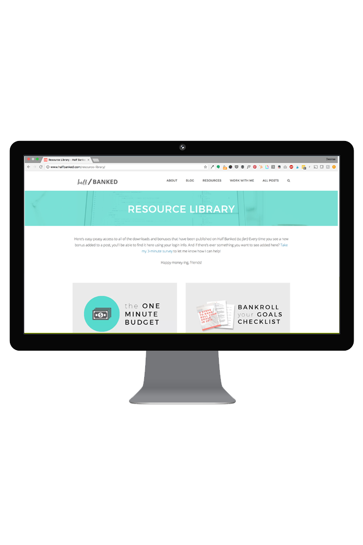 A library of free resources to help you save more money, budget effectively and reach your goals.