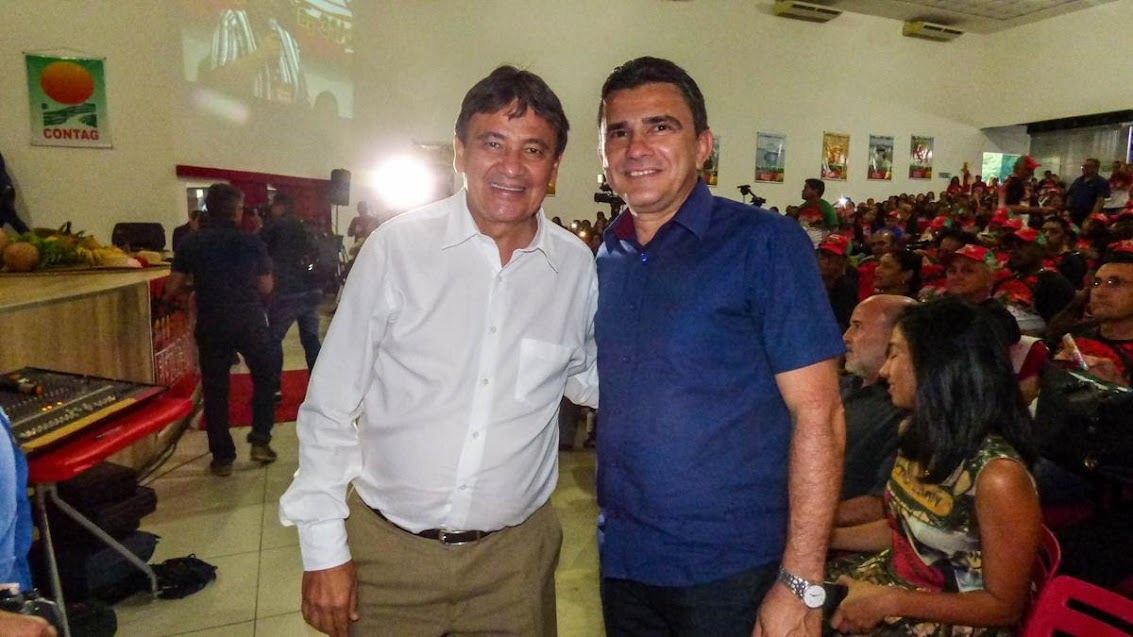 wellingon Dias e Osmar Vieira (prefeito de Cocal dos Alves)