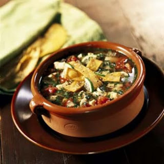 Chicken, Tortilla and Lime Soup.