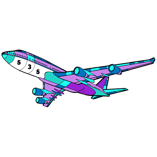 Planes Color by Number - New Coloring Book Pages Icon