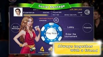 Screenshot of Tap Poker Social Edition
