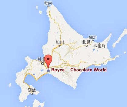 地図:ロイズ チョコレートワールド