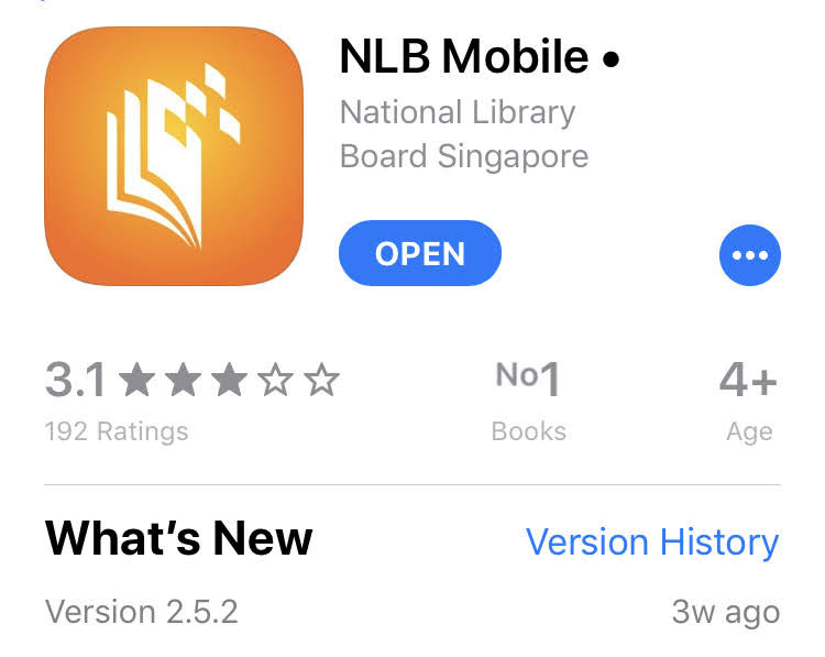 NLB mobile app in Apple App Store.