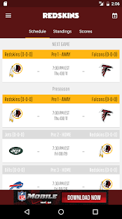 Official Redskins App- screenshot thumbnail