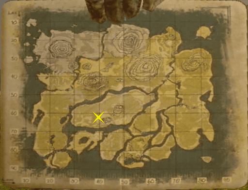 免疫洞窟の位置