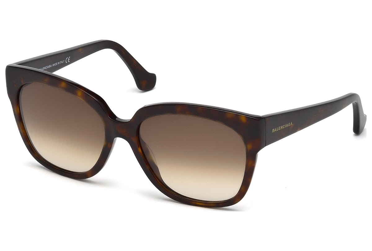 Comprar Gafas de sol Balenciaga BA0015 C59 52F (dark havana   gradient  brown)  a46fe1ce37c4