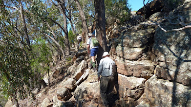 Photo: Edging along eastern side of the ridge