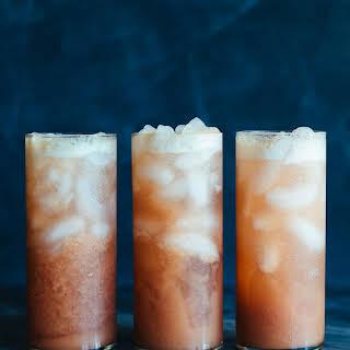 Rhubarb Whiskey Collins.