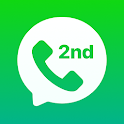 2nd Line: Second Phone Number for Texts & Calls icon