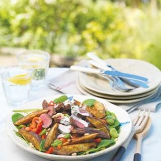 Spiced Lamb, Kumara & Baby Spinach Salad