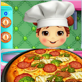 Lili Cooking Pizza