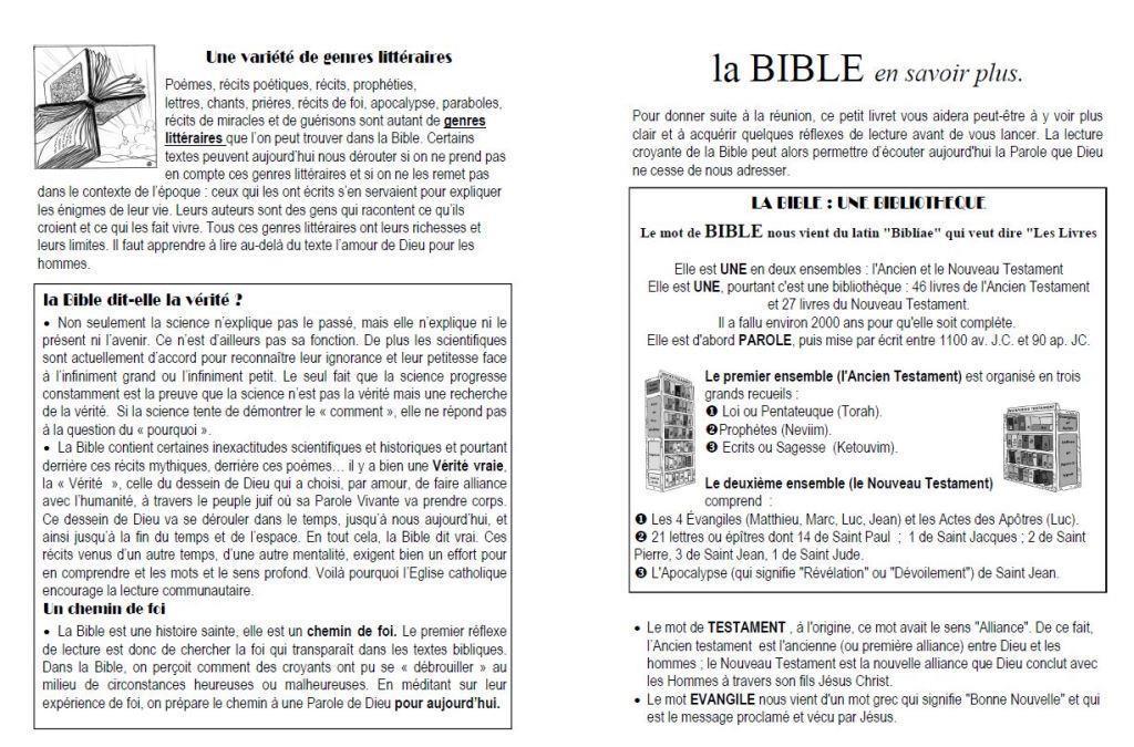 livret pour comprendre la Bible