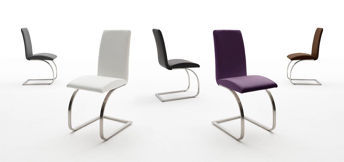 Isola set di due sedie moderne eleganti in 5 colori, per cucina ...