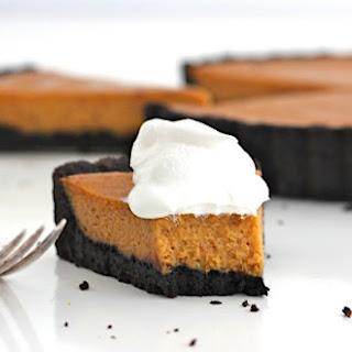 Dark Chocolate Pumpkin Tart.