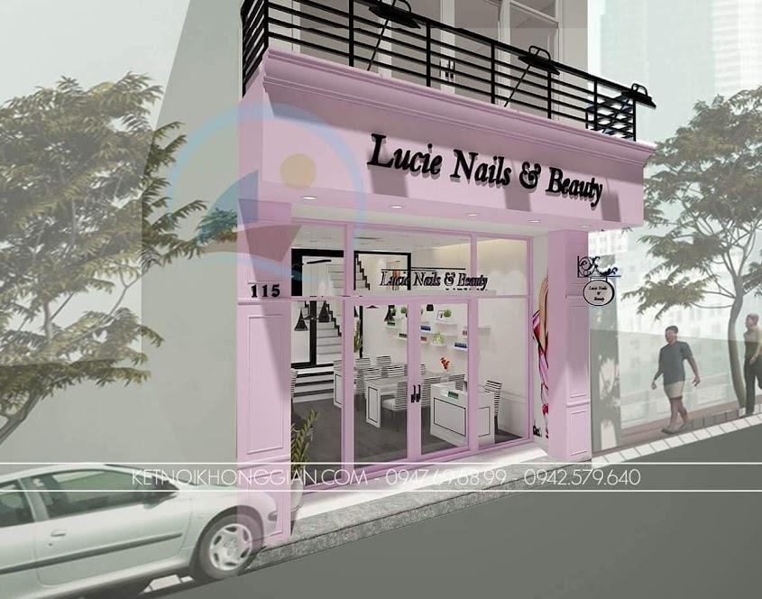 Thiết kế cửa hàng nail diện tích nhỏ