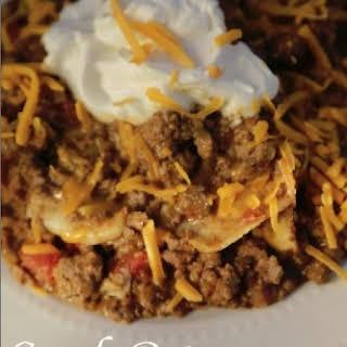 Crock Pot Taco Casserole.