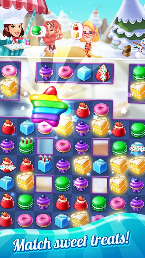 Screenshot 2 Crazy Cake Swap: Matching Game 1.65 APK MOD