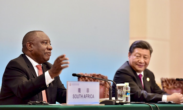 President Cyril Ramaphosa and President Xi Jinping make closing statements at the Great Hall of the People in Beijing, China, September 4 2018. Picture: GCIS