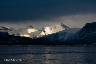 Photo: The Romsdalen Alps, seen from Molde