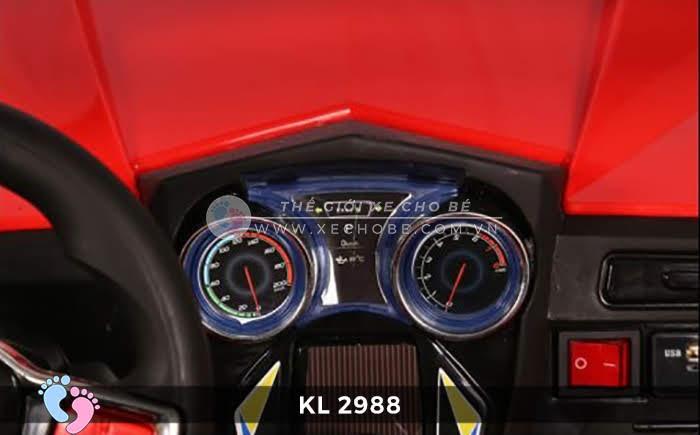 Xe ô tô điện đồ chơi trẻ em KL-2988 ghế da 20