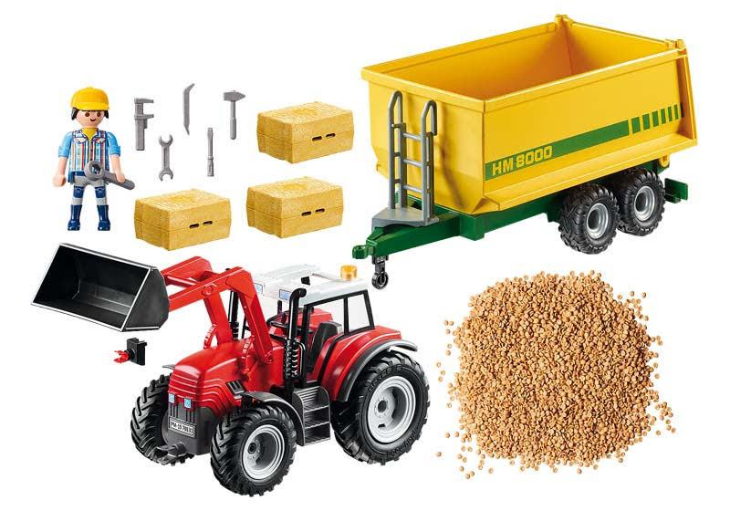 Contenido real de Playmobil® 70131 Tractor con Remolque
