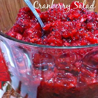 Grandma's Famous Cranberry Salad.