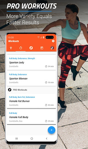 MMA Spartan System Female ud83eudd4a - Home Workouts PRO screenshots 3