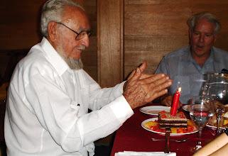 Photo: Ramon Castro, Fidel's older brother, celebrates his birthday. Tracey Eaton photo