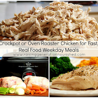 Crockpot or Oven Roaster Chicken For Fast, Weekday Meals