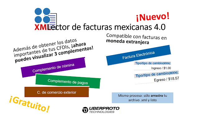 Lector de facturas mexicanas XML