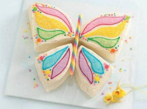 Now you can decorate your butterfly.  I found that using stick candy or...