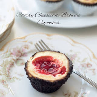 Cherry Cheesecake Brownie Cupcakes.