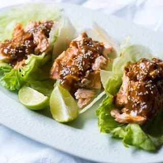 Keto Salmon Teriyaki Lettuce Wraps 🐟.