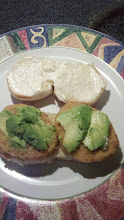 Photo: Avacado and Miracle Whip for me. Forgot to pick up tomatoes! Darn it!