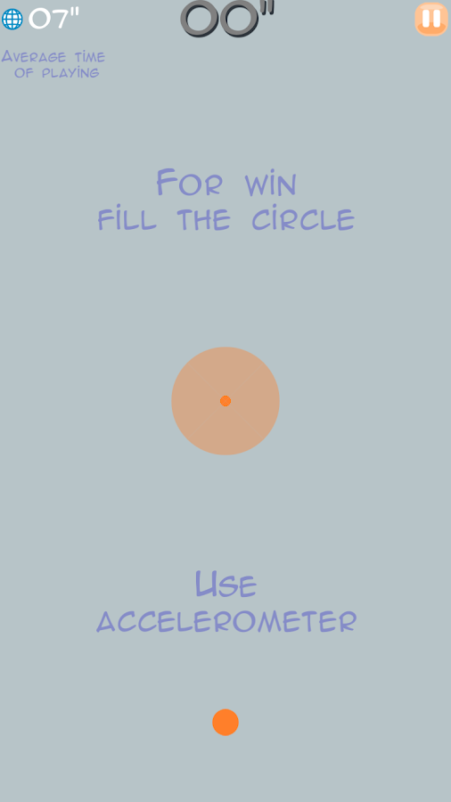 Fill the circle!- screenshot