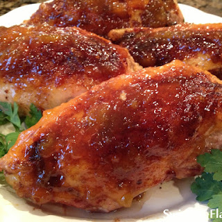 Bourbon Peach Glazed Chicken Breasts