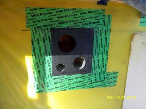 Photo: ... our undersized EPDM holes ...