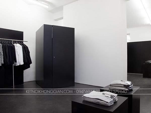Thiết kế shop thời trang nam black 5